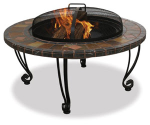 Slate & Marble Outdoor Fire Pit!