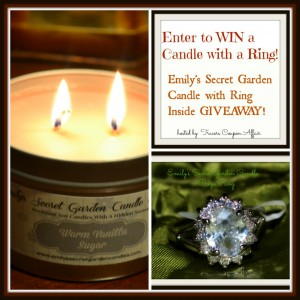 Emily's Secret Garden Candle with Ring Inside Giveaway