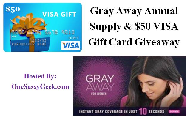 $50 Visa Gift Card and a 1 Year Supply of Gray Away Giveaway