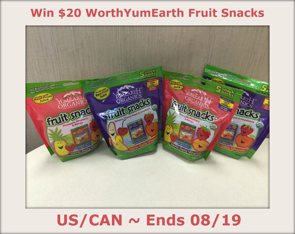 YumEarth Fruit Snacks Giveaway1