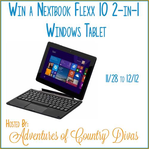 Nextbook Flexx 10 2-in-1 Windows Tablet Giveaway