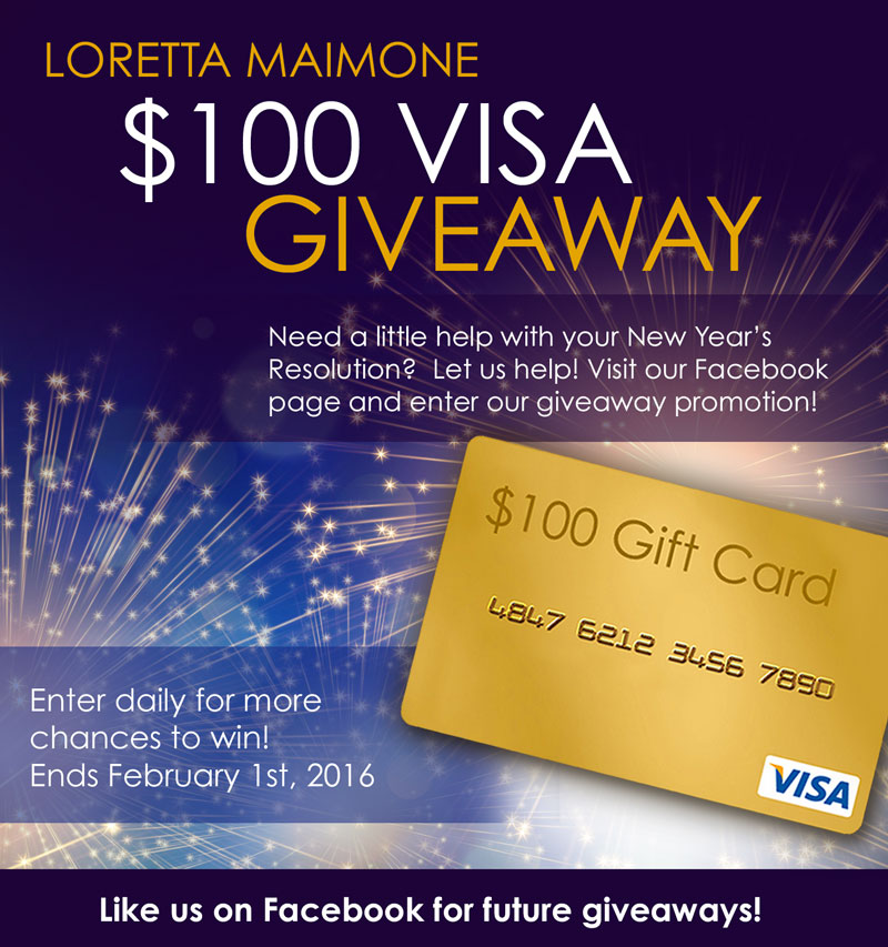 Visa $100 Gift Card Sweepstakes