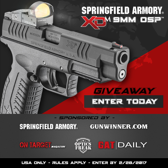Springfield XDM 9mm OSP Giveaway