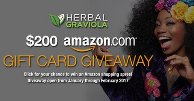 HERBAL GRAVIOLA $200 AMAZON GIFT CARD SWEEPSTAKES