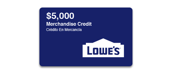 Lowe's $5,000 Gift Card Sweepstakes