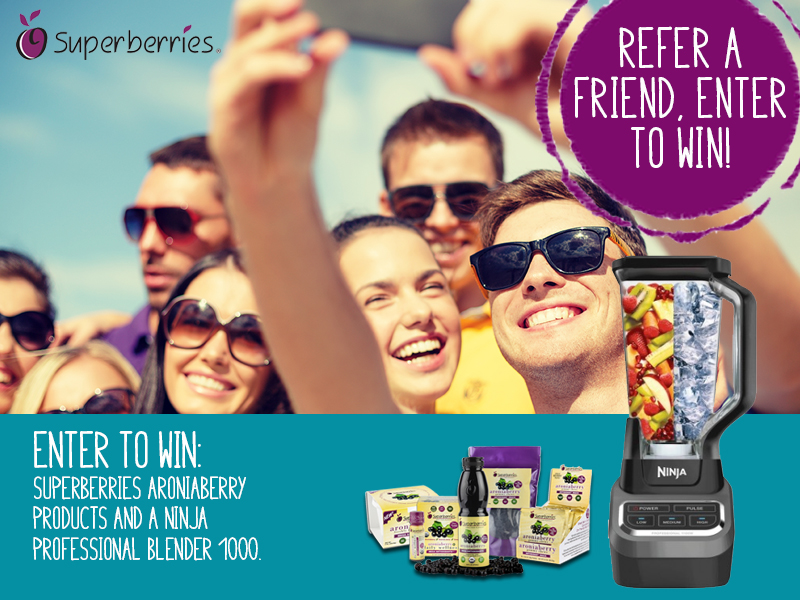 Ninja Blender and Superberries Products Sweepstakes