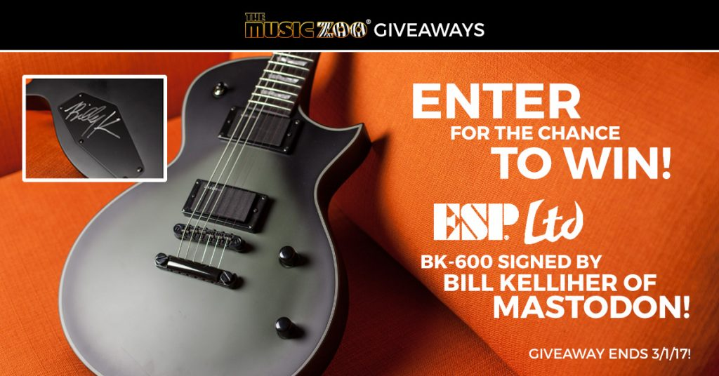 The Music Zoo - Signed Bill Kelliher (Mastodon) ESP BK-600 Guitar Giveaway